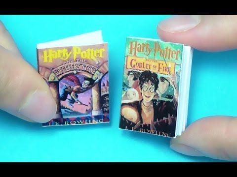 미니어쳐 해리포터 책 만들기 MIniatures Harry Hotter Book Tutorial ミニチュア - YouTube
