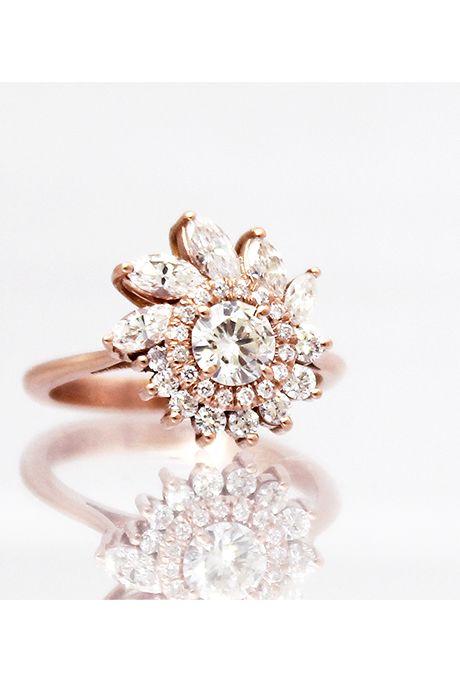 Brides: Unique Engagement Ring Settings   Engagement Rings   Engagement   Brides.com   Wedding Engagement
