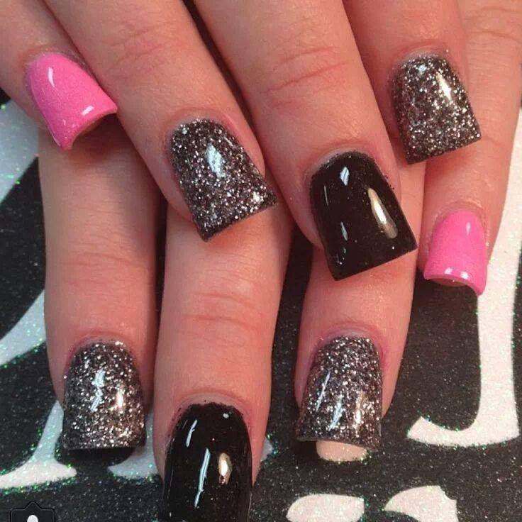 Black & Pink Nails!  Come to Luxury Spa & Nails for all of your pampering needs! Call (803) 731-2122 or visit www.luxuryspaandnails.weebly.com for more information!
