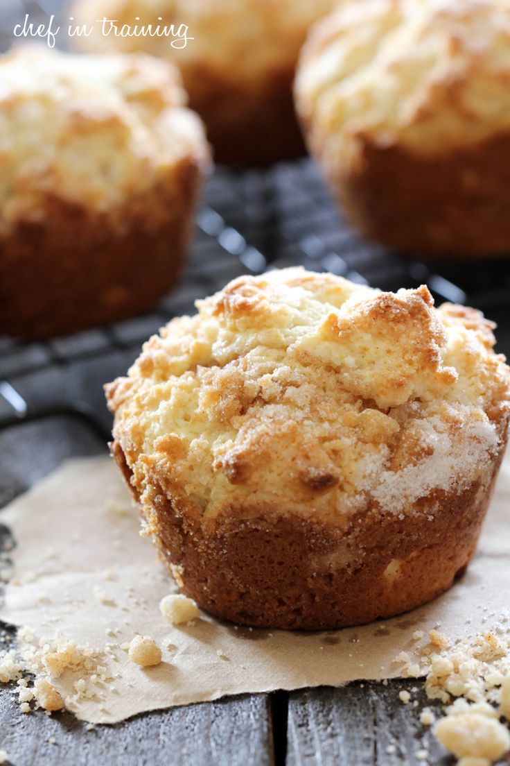 Creme Brûlée Muffins from chef-in-training.com ...The flavors of a fancy dessert in a simple, soft and delicious muffin!