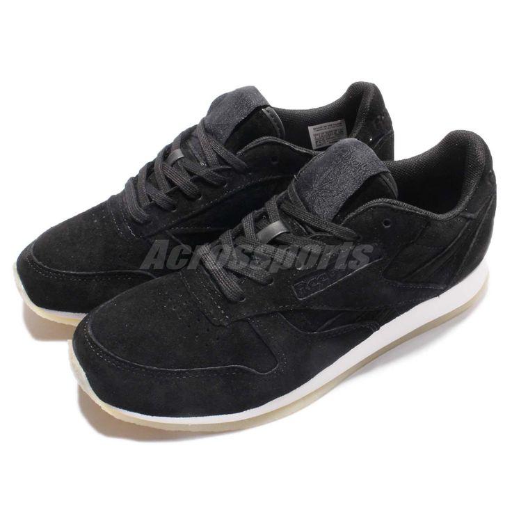 Reebok Cl Lthr Crepe Neutral Pop Classic Leather Black White Women Shoes Ar0986