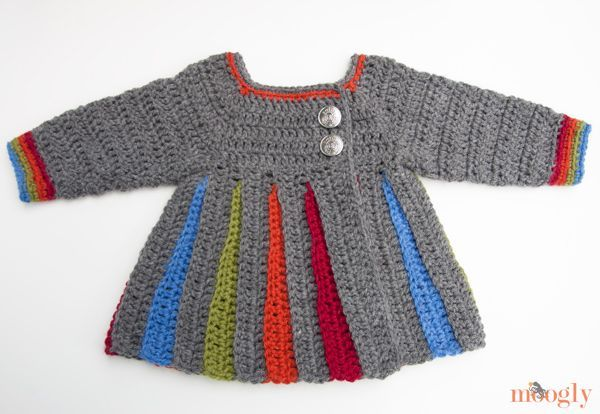 Eloise Baby Sweater :: free pattern in 0-6 mths, 6-12 mths, 18mths, 2T and 3T!