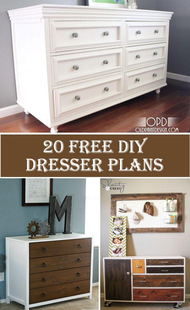 20 Free DIY Dresser Plans