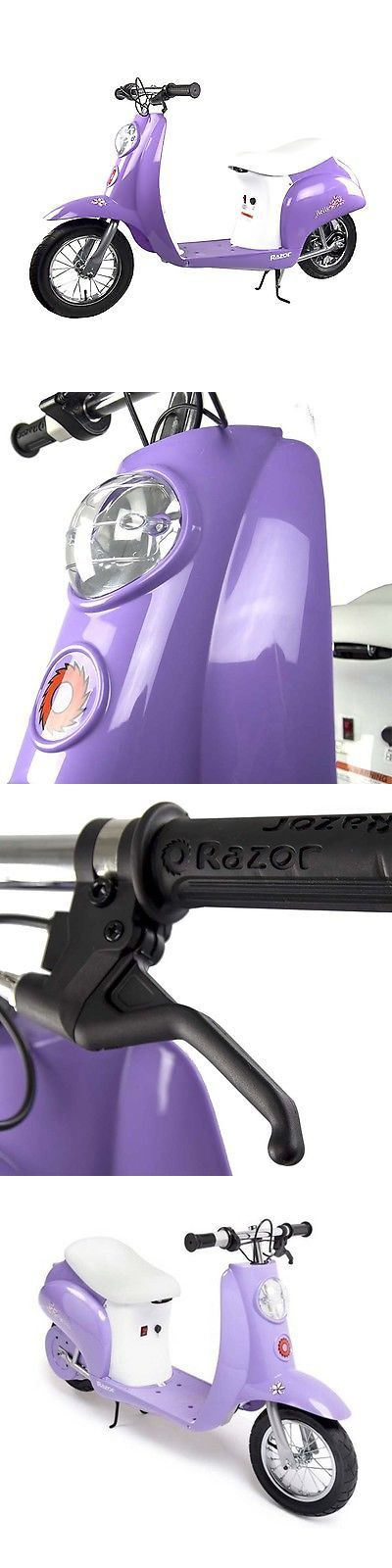 Electric Scooters 47349: Razor Pocket Mod Miniature Euro 24V Electric Retro Scooter, Purple BUY IT NOW ONLY: $249.99