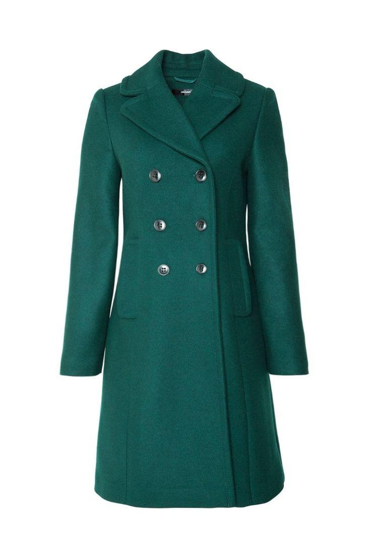 Emerald green coat | Hallhuber