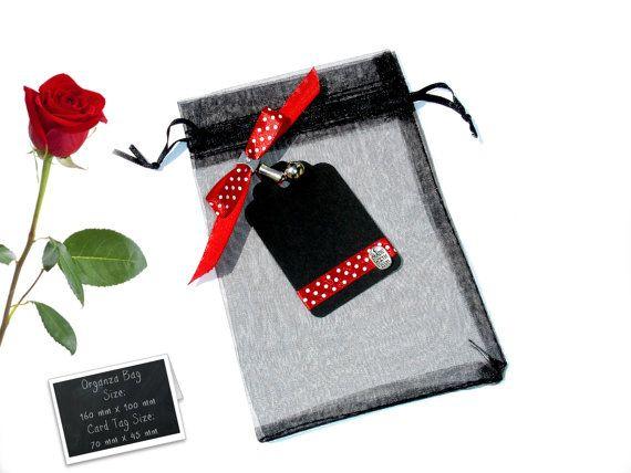 Packing gift set  Black Tag  Organza Bag   Black Gift by ScrapCati, $5.90