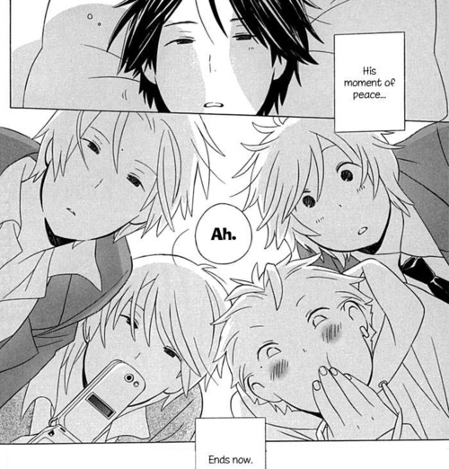 Image result for kimi to boku manga twins dad