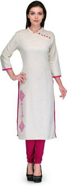 White embroidery kurti