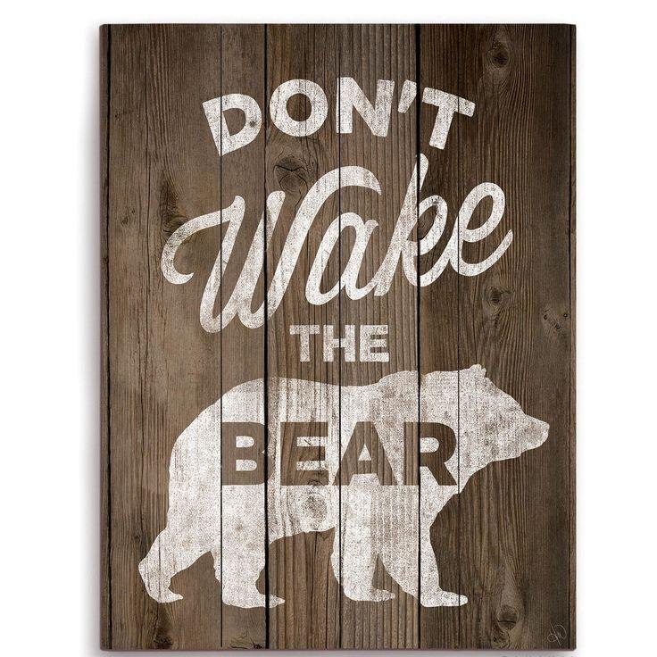 Click Wall Art Don't Wake The Bear Graphic Art