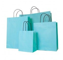 Turquoise Carrier Bag