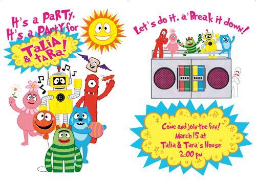 83 best birthday ideas images on pinterest | yo gabba gabba, Birthday invitations