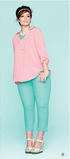 Addition Elle  Pastel Skinny Jeans