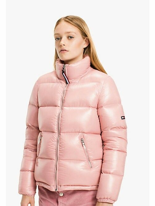 e90b55cf Tommy hilfiger pink down jacket | Down jacket 2 in 2019 | Puffy ...