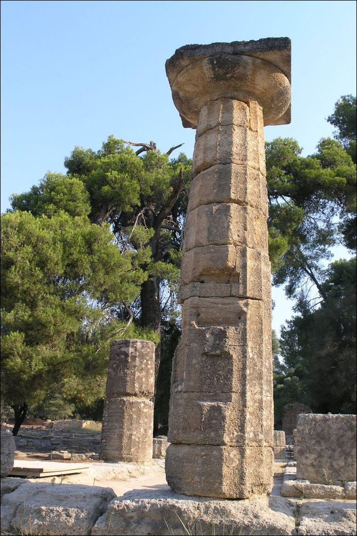 The Temple of Hera at Olympia.