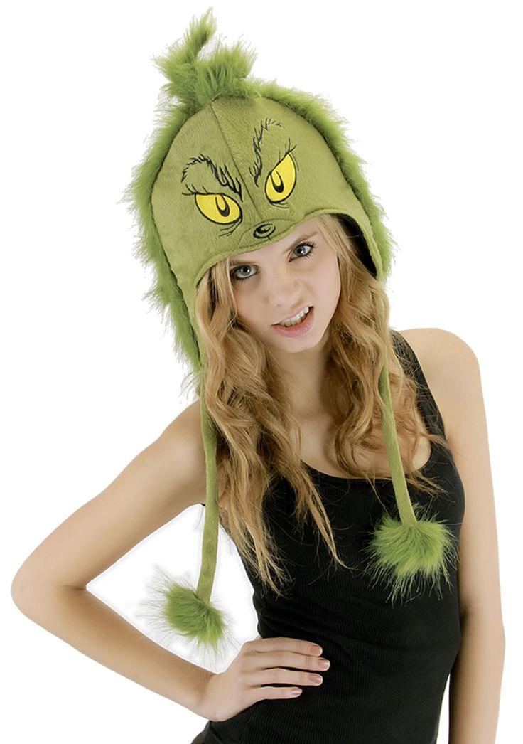 U.S. fancy dress costumes store - Dr. Seuss - Deluxe Grinch Hood - Christmas - Fancy Dress Costume Accessories