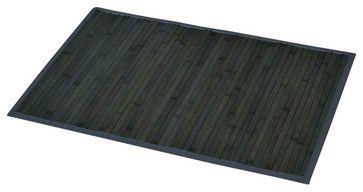 Bamboo Mat Anti Slippery Grey - contemporary - Bath Mats - EVIDECO