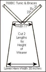700BC Egyptian Tunic & Braces Free Pattern Guide