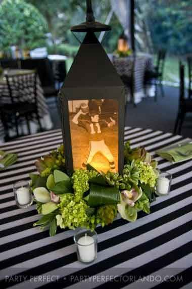 40th birthday party photo lanterns