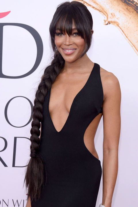 The Best Beauty Looks from the CFDA Awards: Naomi Campbell's long braid