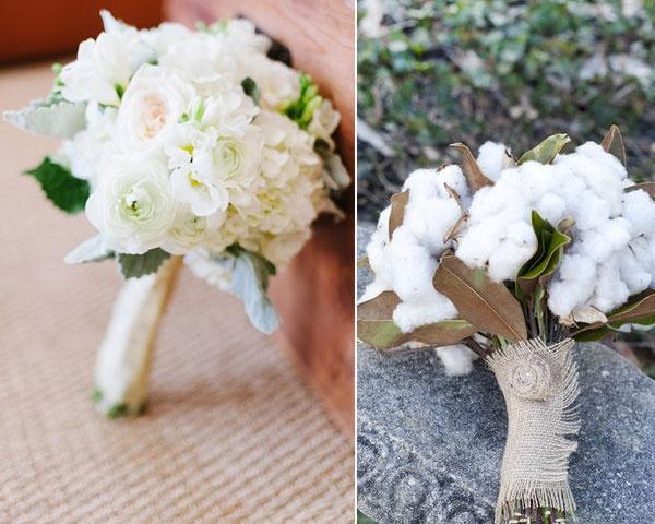 Ramos de novia de color blanco #ramos #bodas