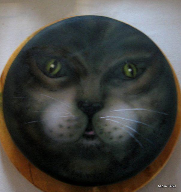 Cat -airbrush
