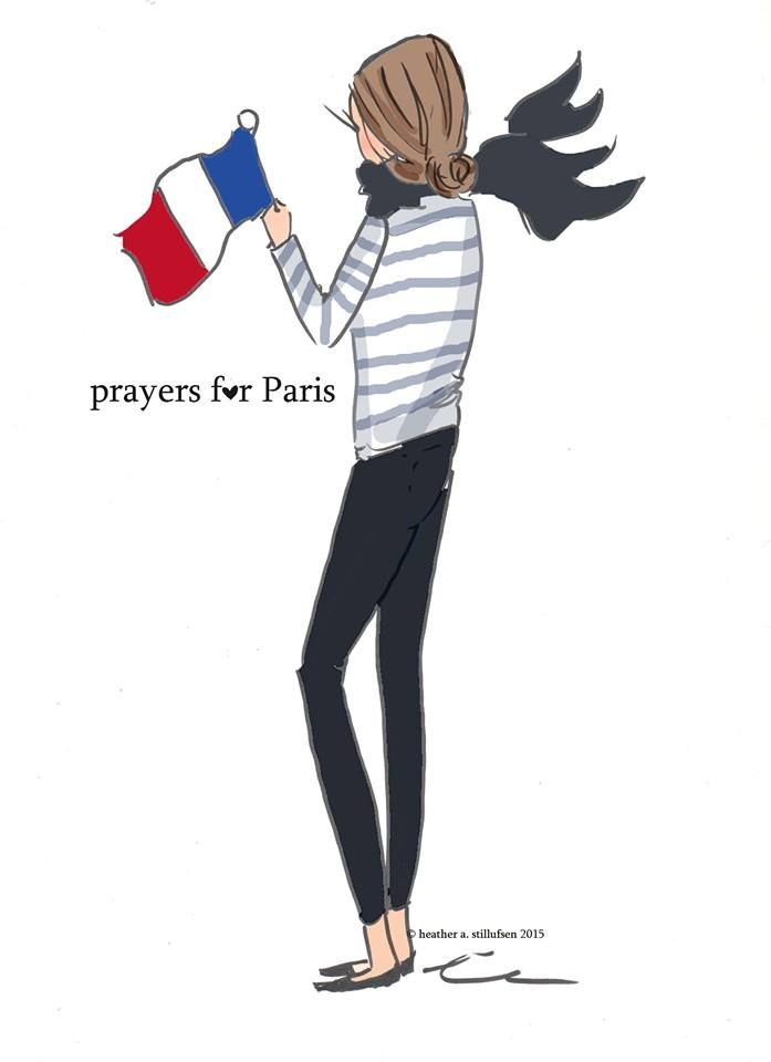 All our prayers go to everyone in Paris ...