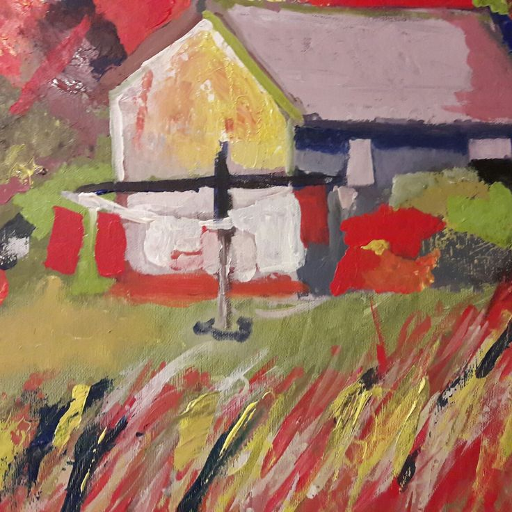 The barn, Painted by Ida Beate Serendahl 2017