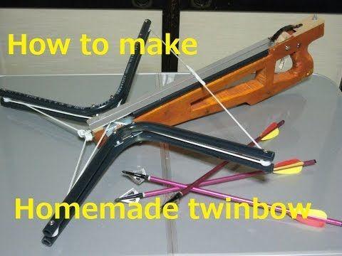 【自作クロスボウ第6弾】 ツインボウを作ってみた Homemade PVC crossbow (twinbow) - YouTube