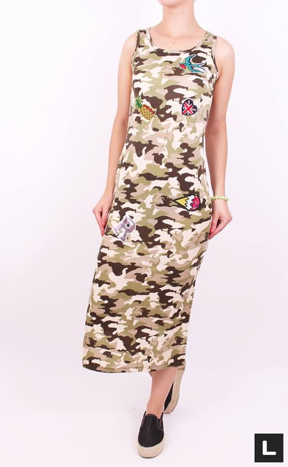 Dlhé army šaty