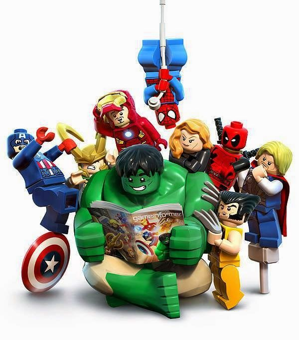 O Lobo Leitor: Os Lego Marvel Super Heroes são heroís da leitura