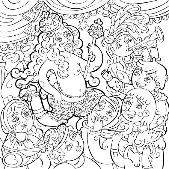 The Emperor's New Clothes, Milana Samarskaya, fairy tales, Hans Christian Andersen, drawing
