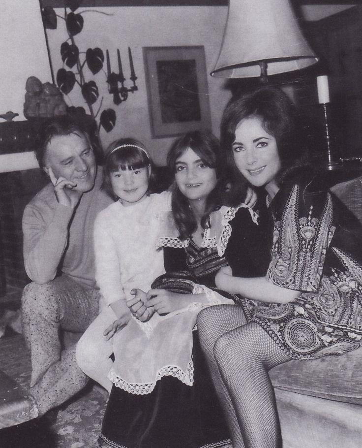Richard Burton And Elizabeth Taylor With Daughters Maria