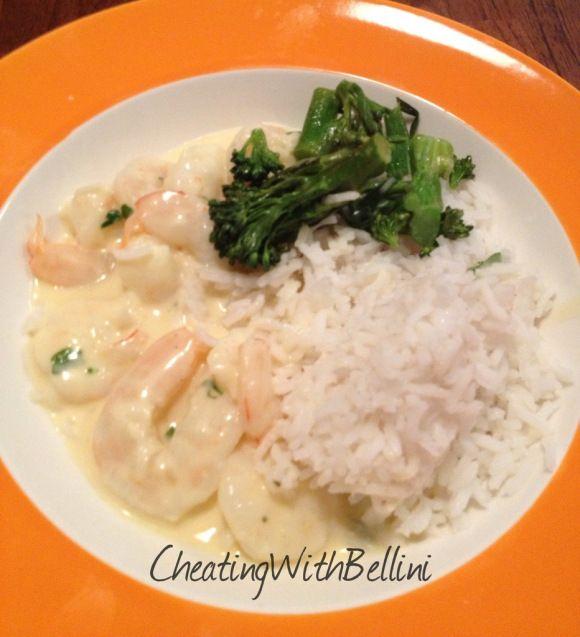 Bellini Intelli - creamy garlic prawns