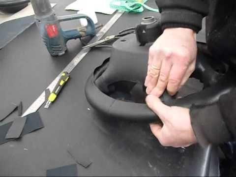 Изготовление выкройки на руль авто Revestimento de volante em couro - YouTube