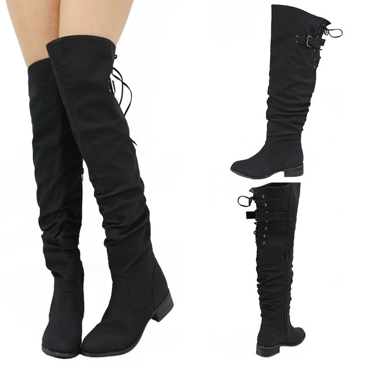 44cee0303ad ... up Back Faux Leather Thigh High Boot at Gothic Plus