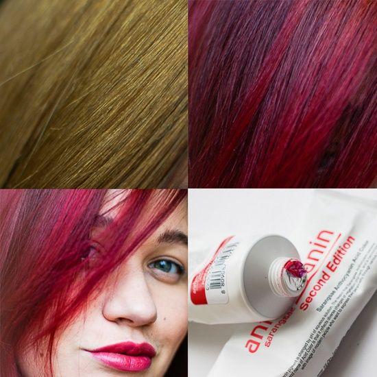 Стойкая краска Антоцианин с эффектом ламинирования Anthocyanin Second Edition в оттенках R02 Pure Red и P02 Magenta Здравствуйте, дорогие косметисточки! Хочу рассказать вам о моем опыте окрашивания пепельных волос в ярко-красный цвет, удачном, не не без разочарования в итоге. googletag.cmd.push(function() { googletag.display('div-gpt-ad-1461138069290-8'); }); Сперва небольшая предыстория ;) Яркий цвет волос надолго я