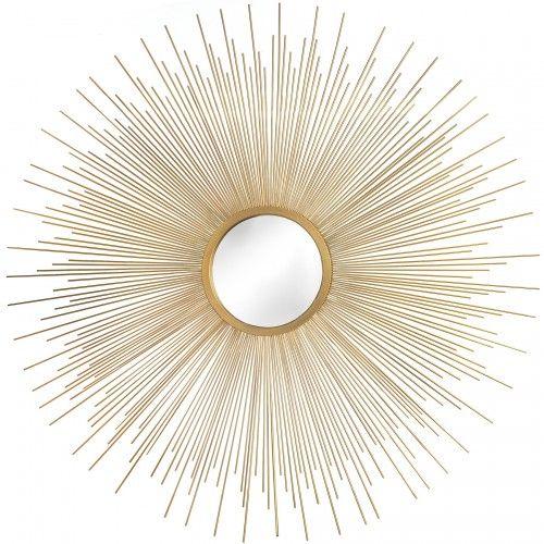 Metal wall decor mirror sun