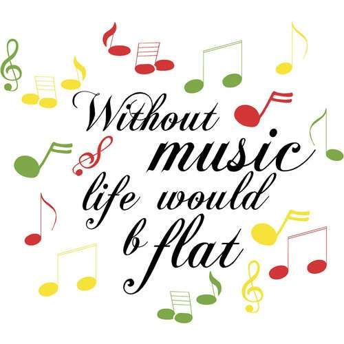 Image result for live without music would b flat