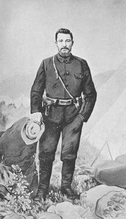 Christiaan Rudolf de Wet (7 Oct 1854 – 3 Feb 1922) was a Boer general, rebel leader and politician. De Wet served in the first Anglo-Boer War of 1880–81 as a Field Cornet, taking part in the Battle of Majuba Mountain, in which the Boers achieved a victory over the British forces under Major General Sir George Pomeroy Colley. He continued his successful career to the end of the Second Boer war, striking heavily where he could and evading every attempt to bring him to bay.