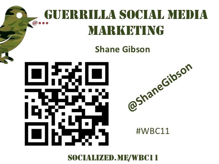 Guerrilla Social Media Marketing - World Brand Congress [ Mumbai, India ]
