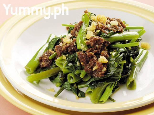 Stir-fried Kangkong with Chicharon | Recipes, Filipino ...