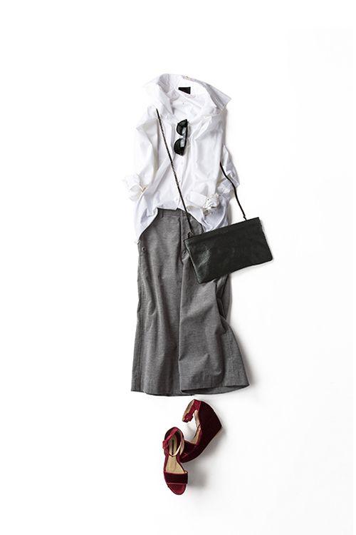 Kyoko Kikuchi's Closet | 今のシルエットで楽しむ白シャツのスタイル