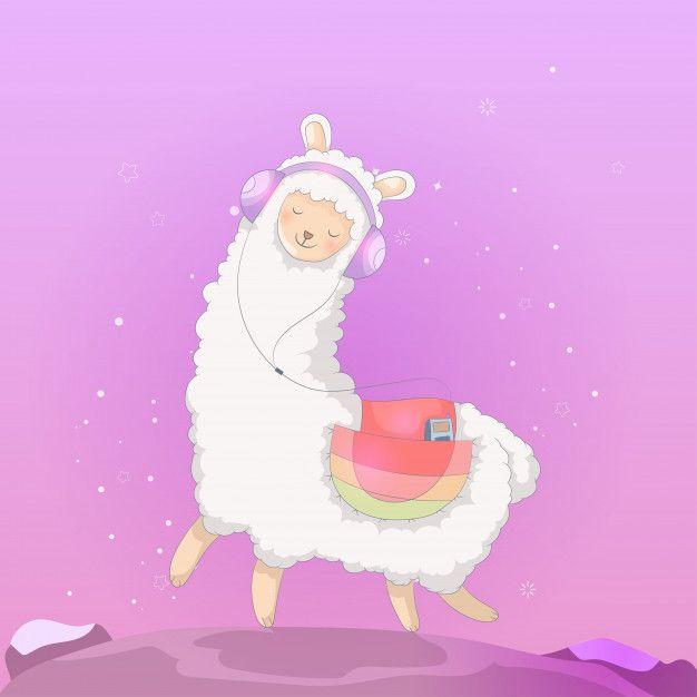 Cute Cartoon Llama Design Cartoon Llama Llama Drawing Cute Llama