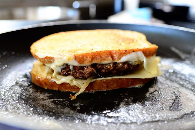 Patty Melts | The Pioneer Woman Cooks | Ree Drummond. Excellent sandwich. We added a smear of Thousand Island dressing on each slice of bread.