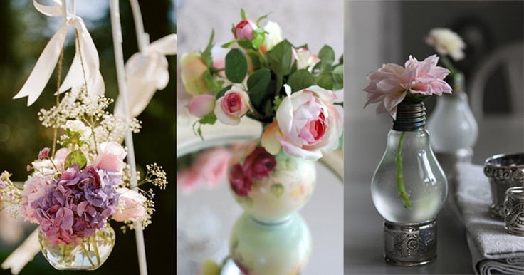 DIY: transforme suas lâmpadas em arte: Pink Roses, Shabby Chic, Posts, Pretty Flowers, Beautiful Flowers, Ana Rosa, Beauty, Floral Arrangements, Romantic Flowers