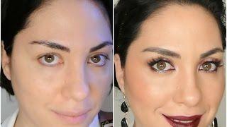 Party Makeup Harpers Bazaar Buze burgund smokey eye