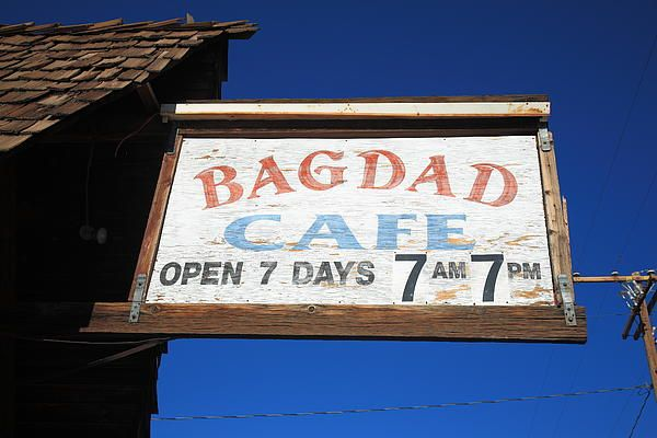 Route 66 - Bagdad Cafe. Old Rt. 66 in Newberry Springs, California.Signs, Newberry Spring, Bagdad Cafes, California, Cafes K-Cup