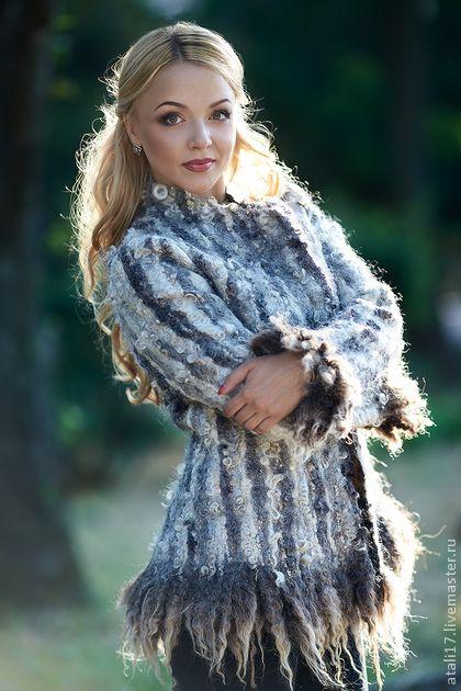 Верхняя одежда ручной работы. Ярмарка Мастеров - ручная работа Жакет Элис 2- войлок. Handmade.