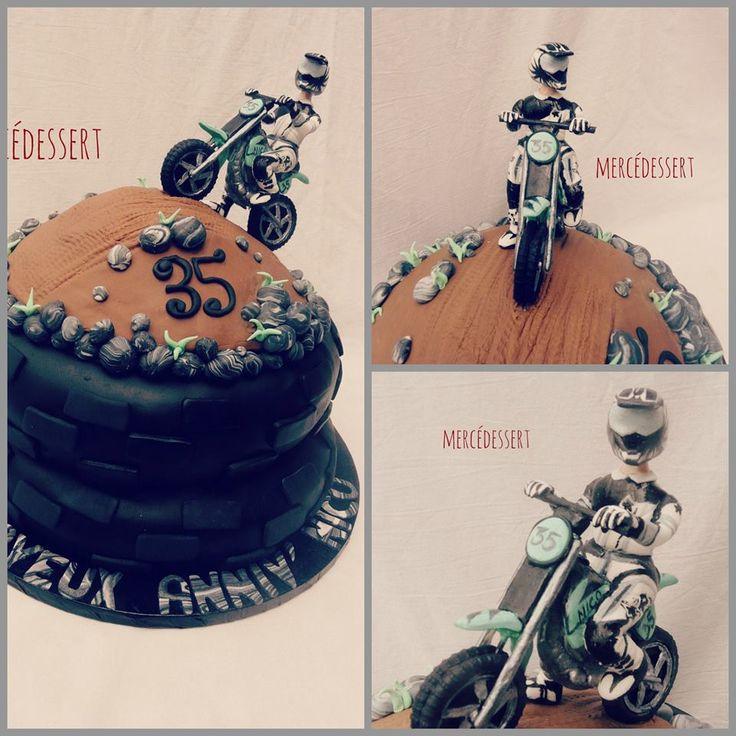Gâteau Moto cross et motard
