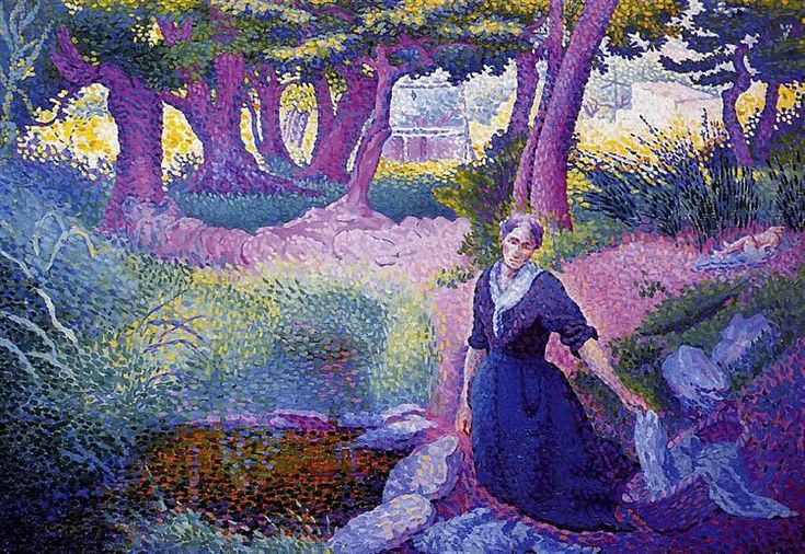 La lavandera, 1895-1896 - Henri-Edmond Cross